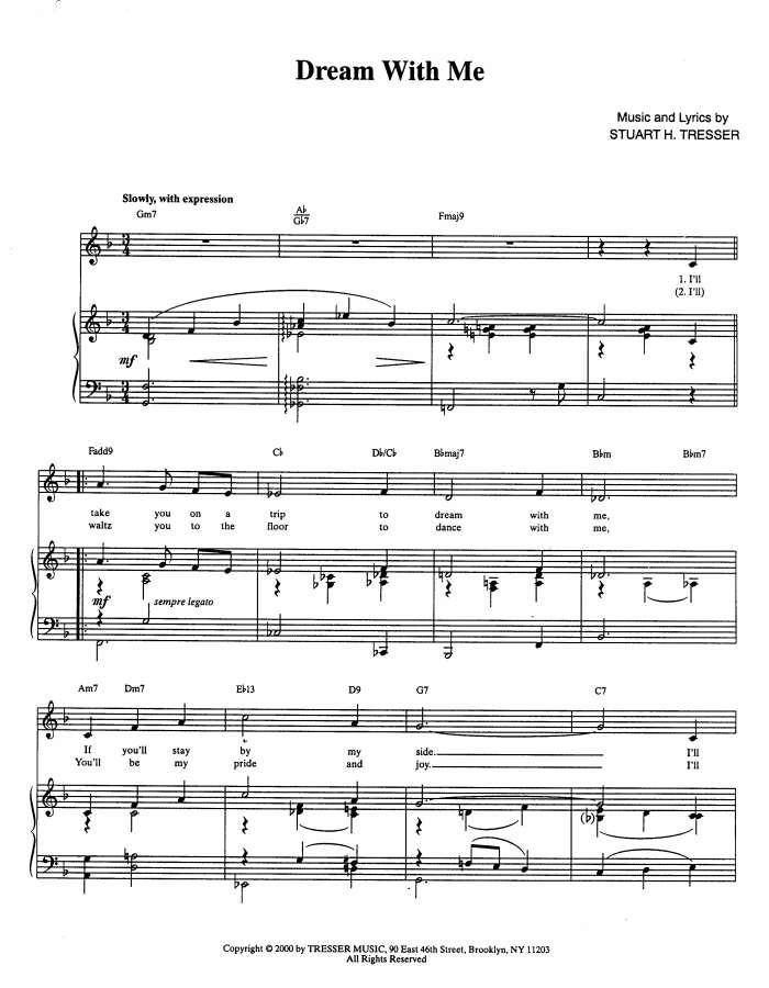 Piano dream a little dream of me piano sheet music : Jazzbone Records